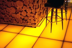 The Doug Fir's famous glowing floors.